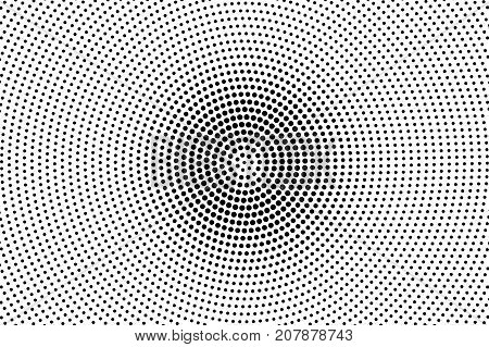 Black and white dotted halftone vector background. Halftone pattern with black dot on transparent overlay. Monochrome dotted vector illustration. Black and white halftone. Pop art dotted texture