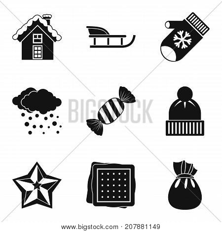 Christmas treats icons set. Simple set of 9 christmas treats vector icons for web isolated on white background