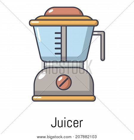 Juicer icon. Cartoon illustration of juicer vector icon for web
