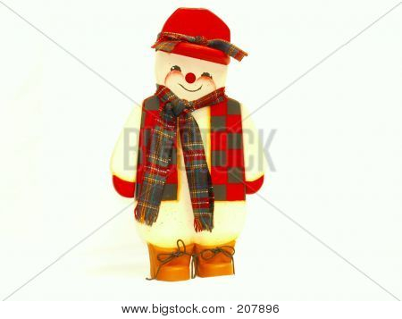Snowman In Flannel