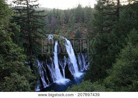 National park Waterfall Burney in California, USA