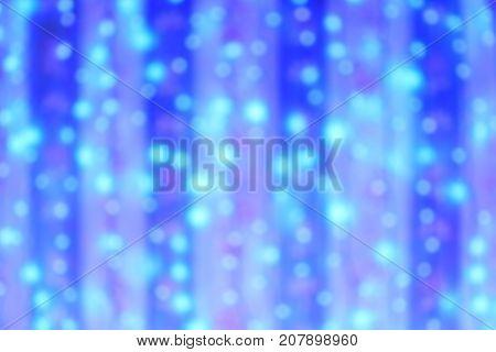 Defocus LED blue light on blue cloth curtain backdrop Background.