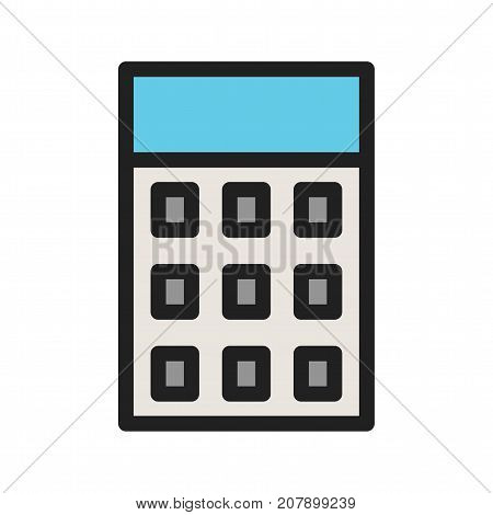 Calculator, accounting, maths icon vector image. Can also be used for Math Symbols. Suitable for mobile apps, web apps and print media.