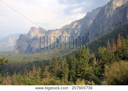 Landscape of Yosemite national Park in USA