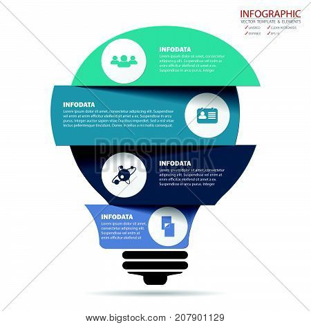 Vector creative business infographics set. Element infographic template for diagram graph presentation and chart. Business concept with options parts steps or processes. Abstract background.