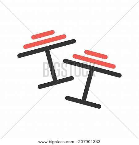 Cuff, links, silver icon vector image. Can also be used for Mens Accessories. Suitable for mobile apps, web apps and print media.