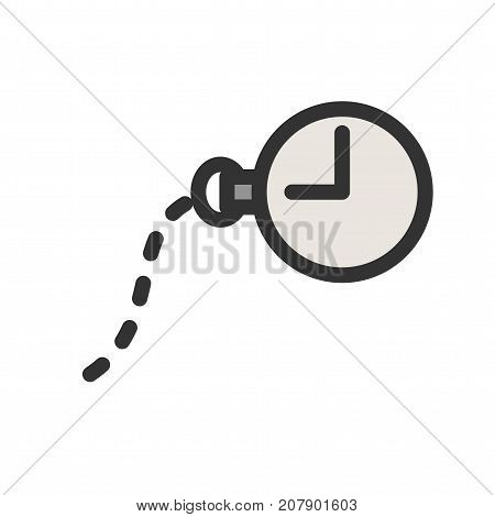 Watch, pocket, clock icon vector image. Can also be used for Mens Accessories. Suitable for use on web apps, mobile apps and print media.