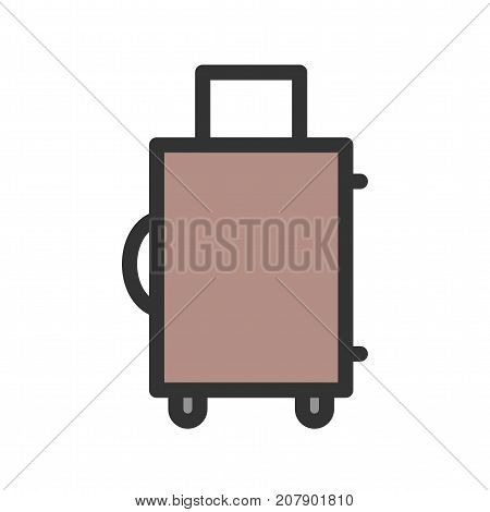 Suitcase, box, luggage icon vector image. Can also be used for Mens Accessories. Suitable for use on mobile apps, web apps and print media.