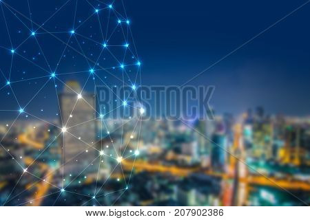 Blockchain network cryptocurrencies concept, is an incorruptible digital ledger of economic transactions