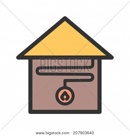 Heating, system, water icon vector image. Can also be used for Climatic Equipment. Suitable for use on web apps, mobile apps and print media.