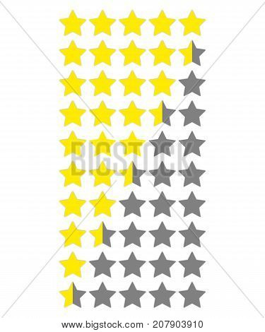 Star rate. Vector icon on white background. Illustration for web or app.