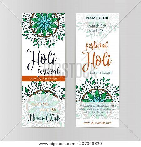 Creative Flyer, Banner or Pamphlet design for Indian Festival of Colours, Happy celebration.