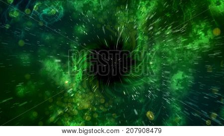 Abstract Spiral Black Hole Illustration