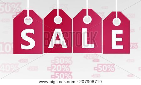 Merry Christmas Sales Tags Illustration
