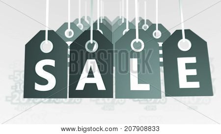 Impressive Grey Sales Tags Illustration
