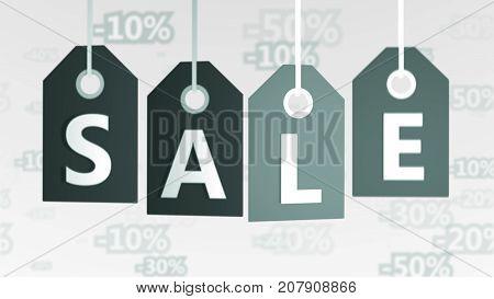 Inspiring Grey Sales Tags Illustration