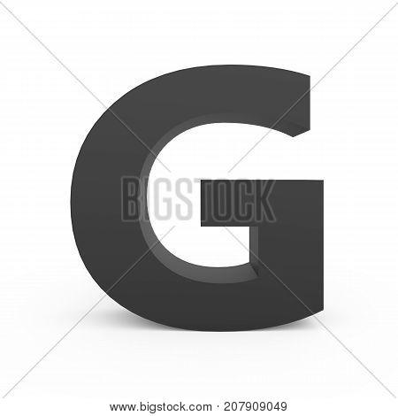 Dark Grey Letter G
