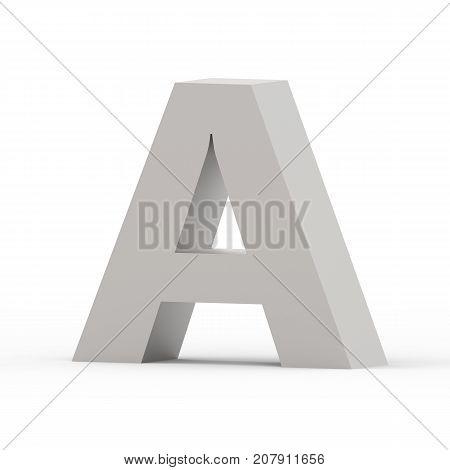 Matte Grey Font A