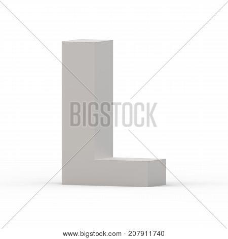 Matte Grey Font L