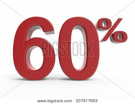 3D Rendering Of A 60% Symbol
