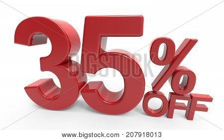 3D Rendering Of A 35% Off Symbol