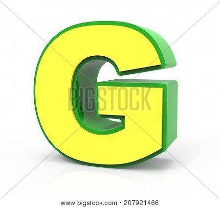 3D Toy Letter  G