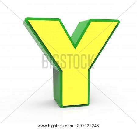 3D Toy Letter  Y