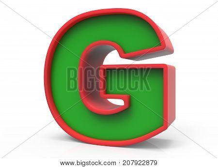 3D Christmas Letter  G