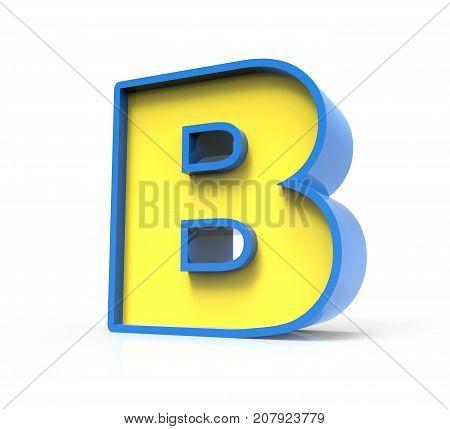 3D Toylike Letter B