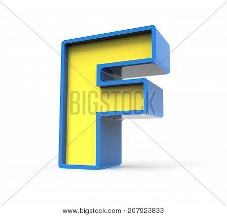 3D Toylike Letter F