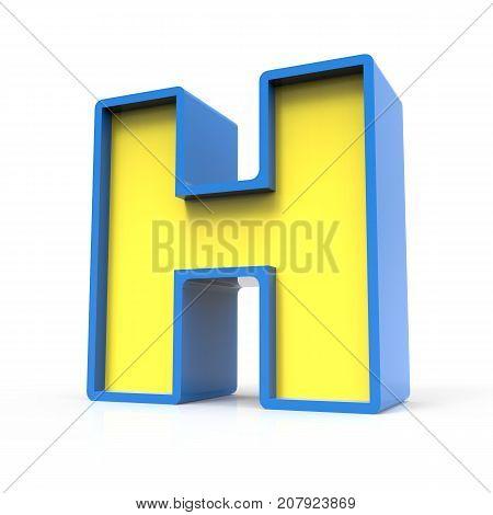 3D Toylike Letter H
