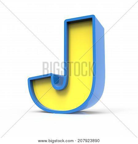 3D Toylike Letter J