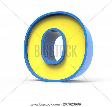 3D Toylike Letter O