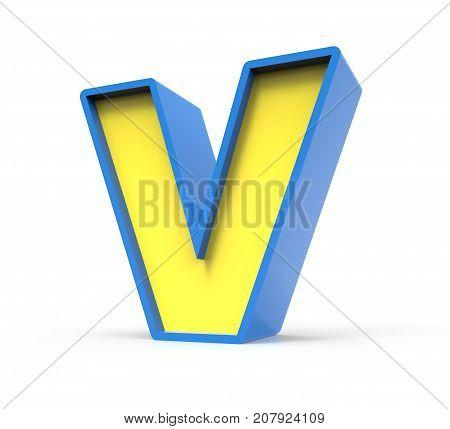 3D Toylike Letter V