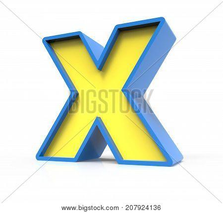 3D Toylike Letter X