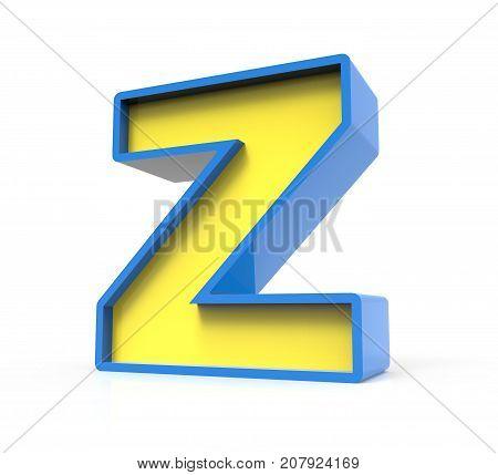 3D Toylike Letter Z