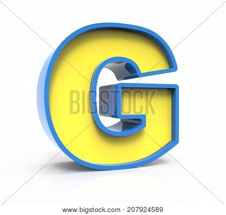 3D Toylike Letter G
