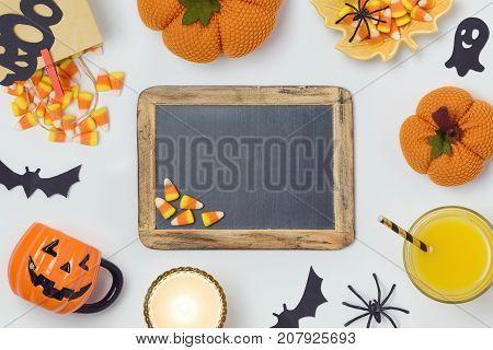 Halloween Background With Chalkboard