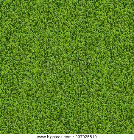 Vector green grass background. Fresh, spring grass texture.