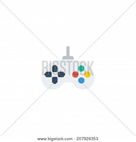 Flat Icon Joystick Element. Vector Illustration Of Flat Icon Game Isolated On Clean Background