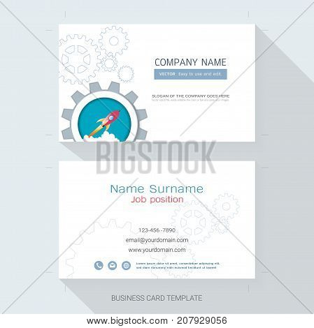 Name card or business card design template,The style is simple, also modern and elegant and it can be suitable for company name, It's fully layered and editable, Easy to customize it to fit your needs