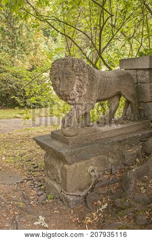 It is image of statue in Konopiště castle in Czech Republic.