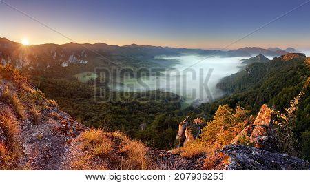 Rocky moutain at sunset - Slovakia Sulov