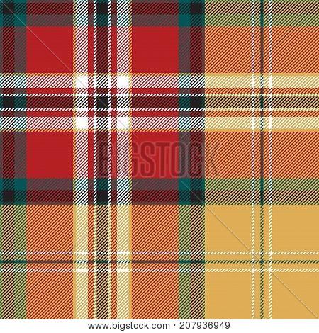 Color plaid tartan seamless pattern. Vector illustration.