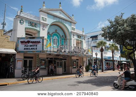 Old Strand Theater Building In  Key West, Florida