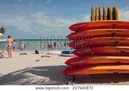 South Beach In Key West, Florida