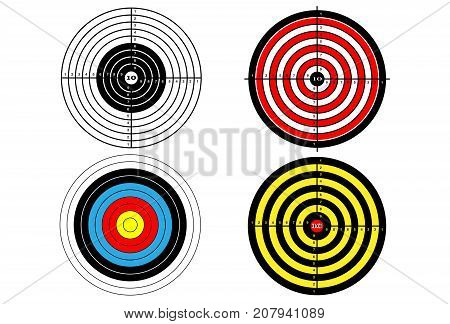 Set targets for shooting practice (four targets)