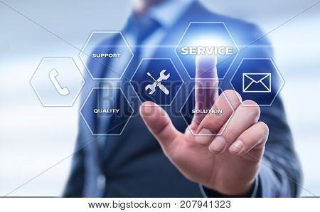 Service Technical Support Solution Business Technology Internet Concept.