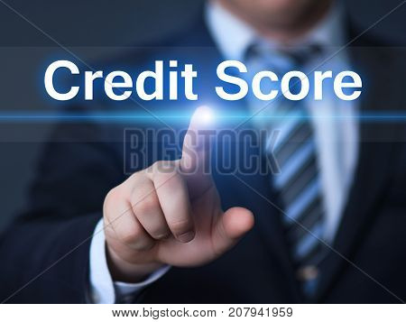 Credit Score Score History Debt Business Technology Internet Concept.