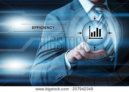 Efficiency impoverment Productivity Business Internet Technology Concept.